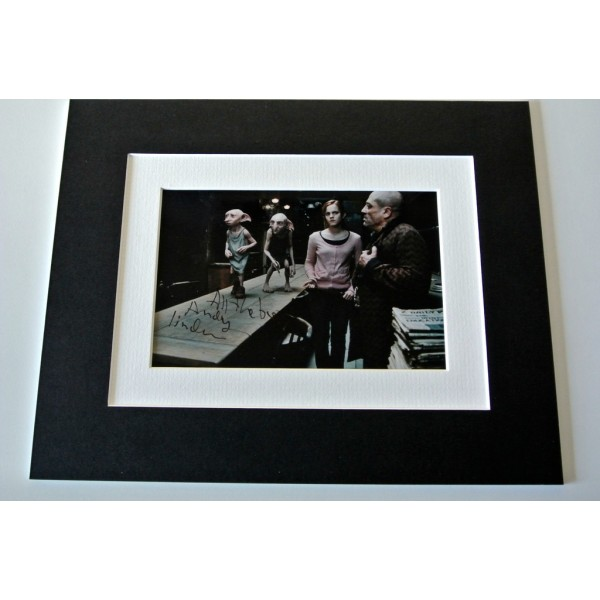 Andy Linden Signed Autograph 10x8 photo mount display Harry Potter Film & COA  PERFECT GIFT