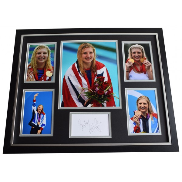 Rebecca Adlington SIGNED Framed Photo Autograph Huge display Olympic Swimming AFTAL & COA Memorabilia PERFECT GIFT