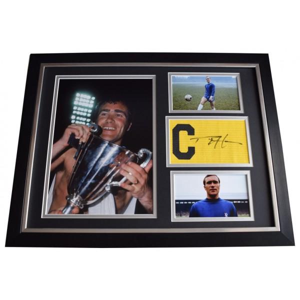 Ron Harris SIGNED FRAMED Armband & Photo Autograph 16x12 display Chelsea  AFTAL  COA Memorabilia PERFECT GIFT