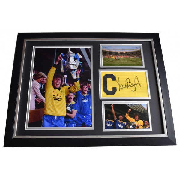 Dave Beasant SIGNED FRAMED Armband & Photo Autograph 16x12 display Wimbledon  AFTAL  COA Memorabilia PERFECT GIFT