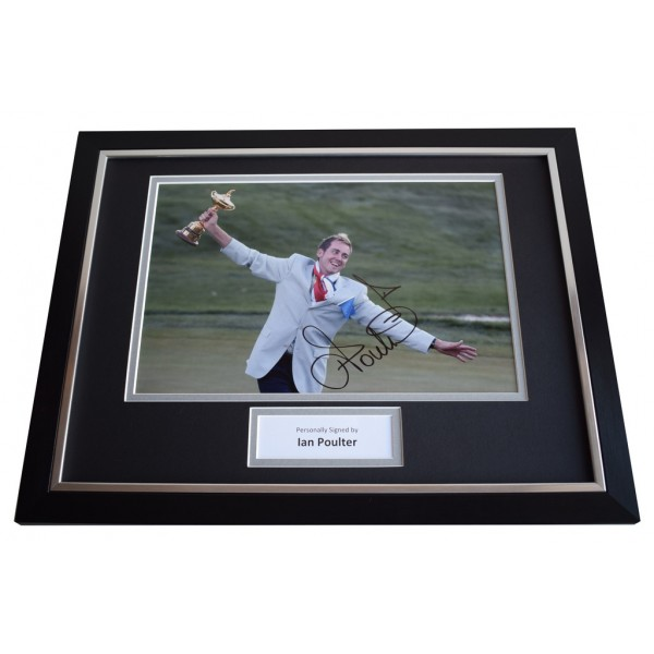 Ian Poulter SIGNED FRAMED Photo Autograph 16x12 display Golf  AFTAL & COA Memorabilia PERFECT GIFT