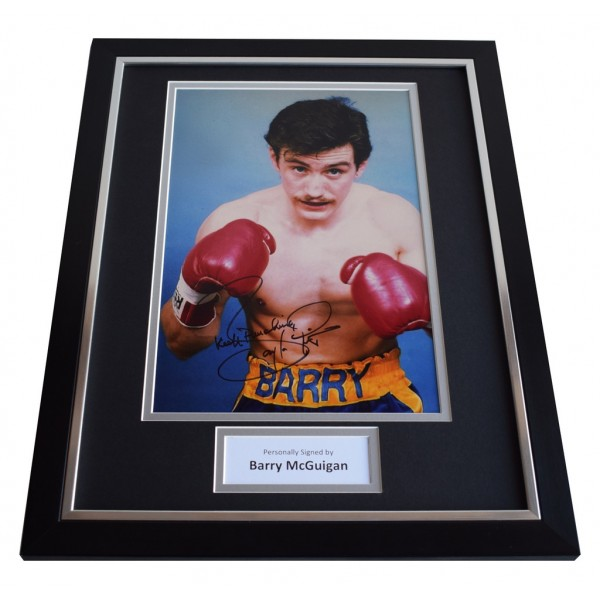 Barry McGuigan SIGNED FRAMED Photo Autograph 16x12 display Boxing AFTAL & COA Memorabilia PERFECT GIFT