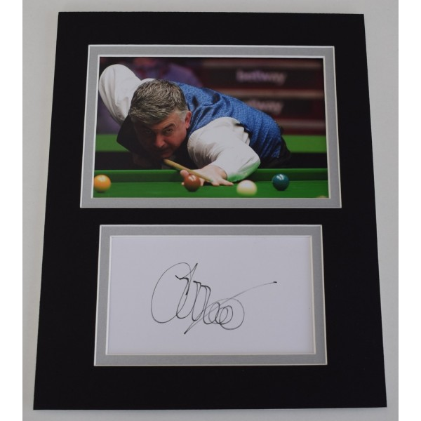 John Parrott Signed Autograph 10x8 photo mount display Snooker Sport   AFTAL  COA Memorabilia PERFECT GIFT
