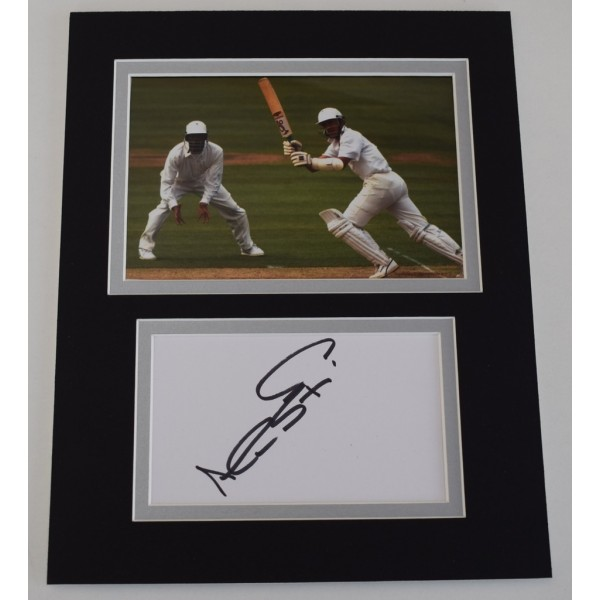 Alec Stewart Signed Autograph 10x8 photo mount display England Cricket AFTAL  COA Memorabilia PERFECT GIFT