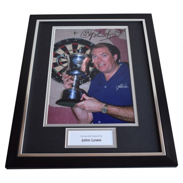 John Lowe SIGNED FRAMED Photo Autograph 16x12 display Darts  AFTAL & COA Memorabilia PERFECT GIFT