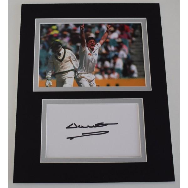 Darren Gough Signed Autograph 10x8 photo mount display England Cricket  AFTAL  COA Memorabilia PERFECT GIFT