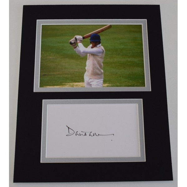 David Gower Signed Autograph 10x8 photo mount display England Cricket AFTAL  COA Memorabilia PERFECT GIFT