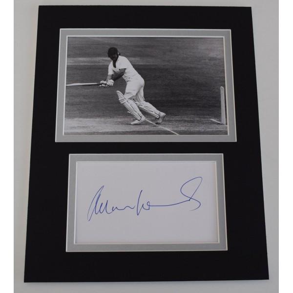 Allan Lamb Signed Autograph 10x8 photo mount display England Cricket  AFTAL  COA Memorabilia PERFECT GIFT