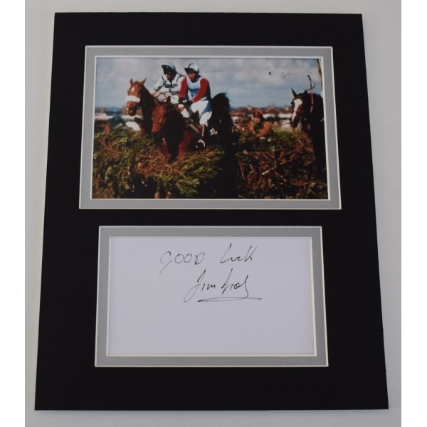 Jimmy Frost Signed Autograph 10x8 photo mount display Horse Racing AFTAL  COA Memorabilia PERFECT GIFT