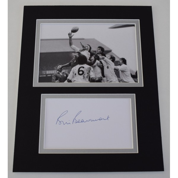 Bill Beaumont Signed Autograph 10x8 photo display England Rugby Union  AFTAL  COA Memorabilia PERFECT GIFT