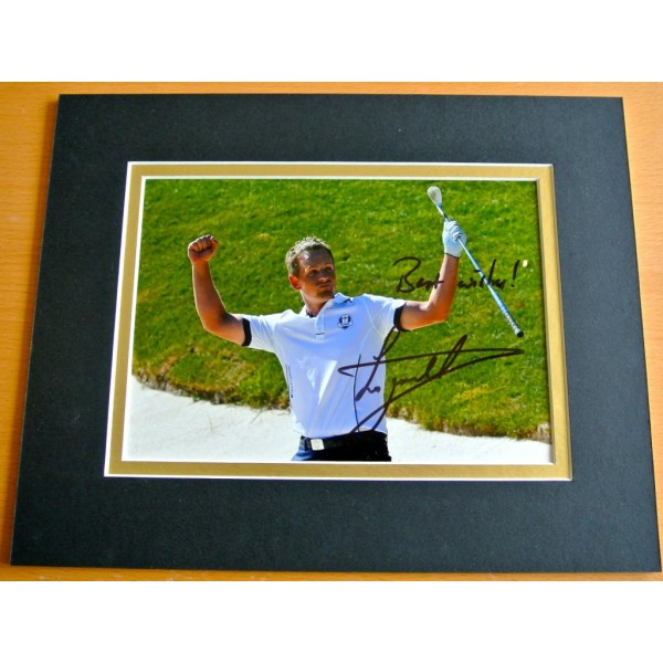 LUKE DONALD HAND SIGNED AUTOGRAPH 10X8 PHOTO DISPLAY GOLF CHAMPION GIFT  COA AFTAL SPORT Memorabilia PERFECT GIFT