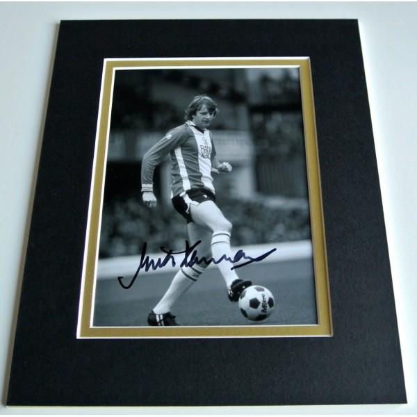 Mick Channon Signed Autograph 10x8 photo mount display Southampton Football COA PERFECT GIFT