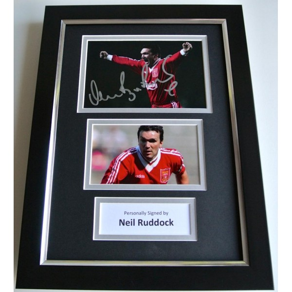 Neil Ruddock SIGNED A4 FRAMED Photo Mount Autograph Display Liverpool PROOF COA PERFECT GIFT