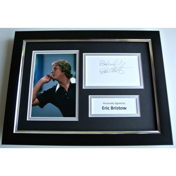 Eric Bristow SIGNED A4 FRAMED Photo Mount Autograph Display Darts See PROOF COA PERFECT GIFT