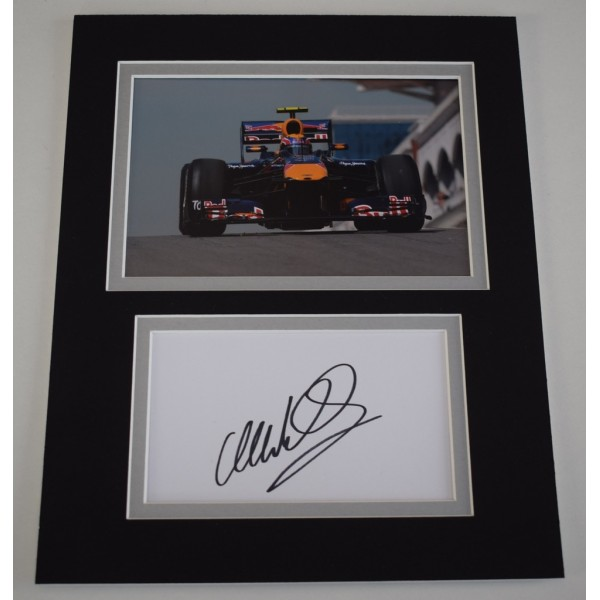 Mark Webber Signed Autograph 10x8 photo display Formula 1 Motor Sport   AFTAL  COA Memorabilia PERFECT GIFT