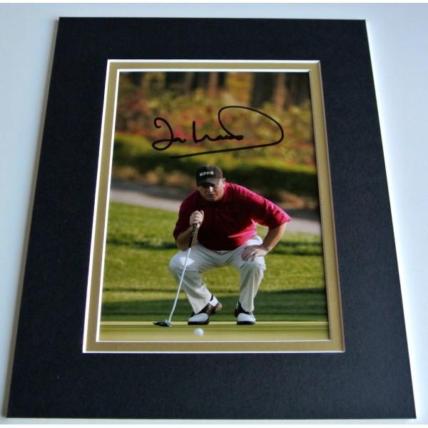 Ian Woosnam Signed Autograph 10x8 photo mount display Golf Memorabilia & COA PERFECT GIFT