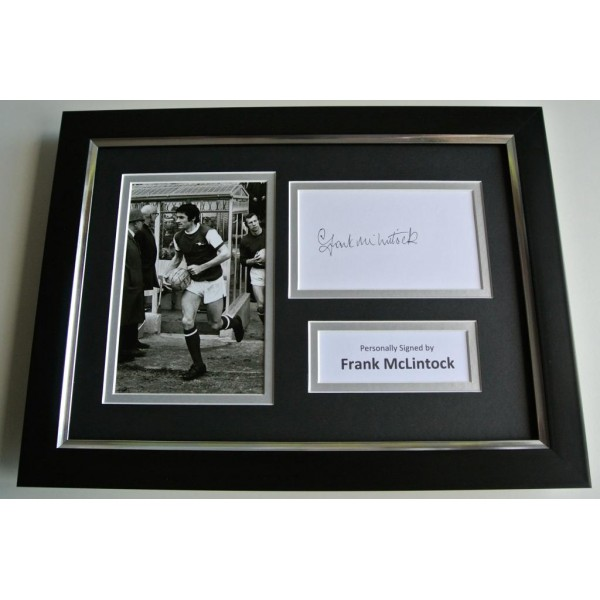 Frank McLintock SIGNED A4 FRAMED Photo Autograph Display Arsenal Football & COA PERFECT GIFT