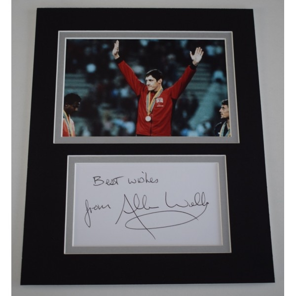 Allan Wells Signed Autograph 10x8 photo display Olympics 100m Sport AFTAL  COA Memorabilia PERFECT GIFT