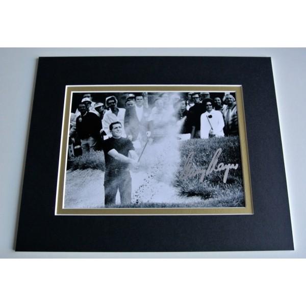 Gary Player Signed Autograph 10x8 photo mount display Golf Memorabilia & COA PERFECT GIFT