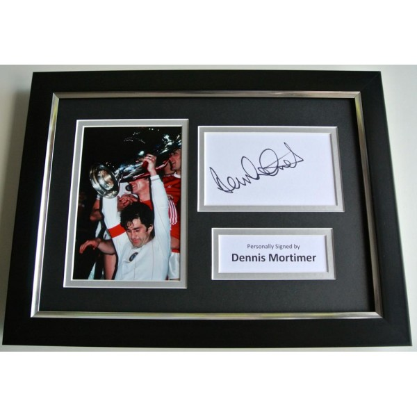 Dennis Mortimer SIGNED A4 FRAMED Photo Autograph Display Aston Villa PROOF & COA PERFECT GIFT
