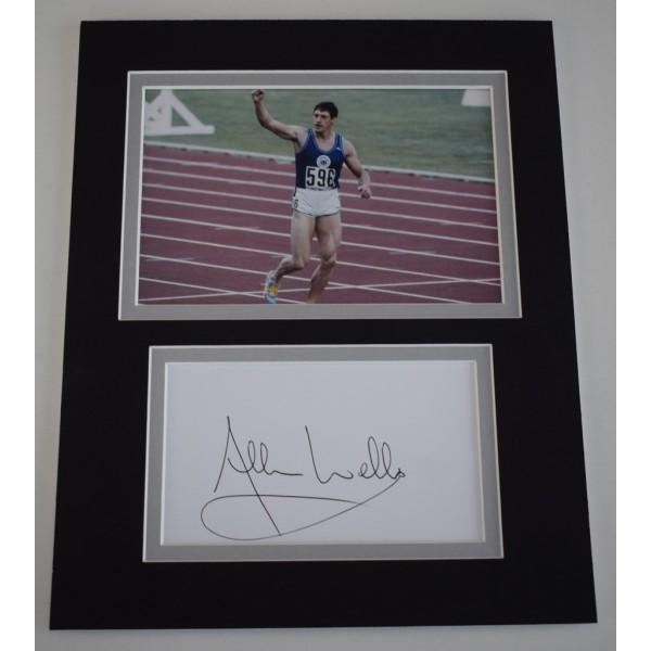 Allan Wells Signed Autograph 10x8 photo display Olympics 100m Sport AFTAL  COA Memorabilia PERFECT GIFT