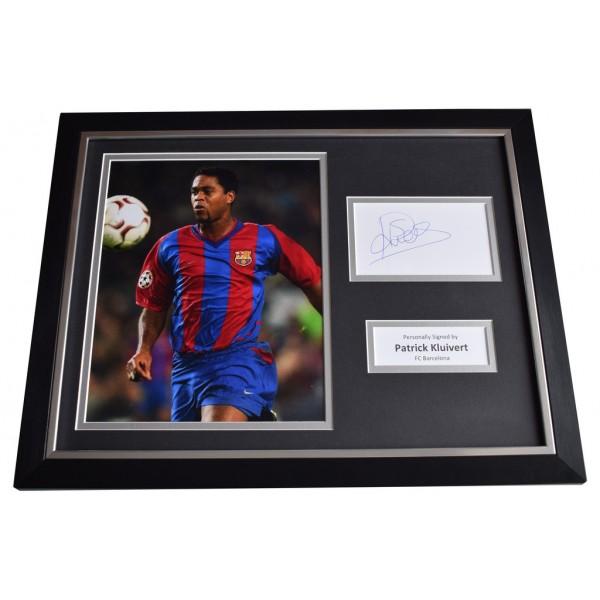Patrick Kluivert SIGNED FRAMED Photo Autograph 16x12 display Barcelona  AFTAL  COA Memorabilia PERFECT GIFT