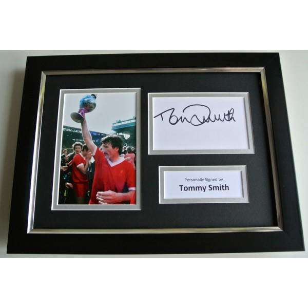 Tommy Smith SIGNED A4 FRAMED Photo Autograph Display Liverpool Football & COA PERFECT GIFT