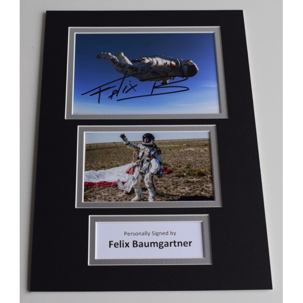 Felix Baumgartner Signed Autograph A4 photo mount display Space Dive  AFTAL & COA Memorabilia PERFECT GIFT