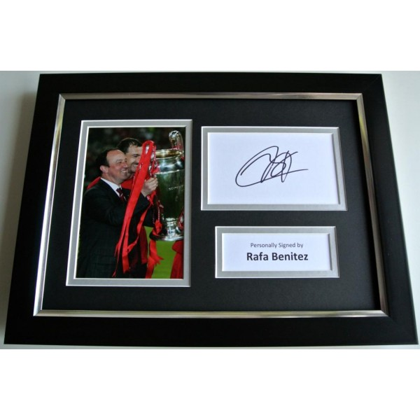 Rafa Benitez SIGNED A4 FRAMED Photo Autograph Display Liverpool Football & COA PERFECT GIFT