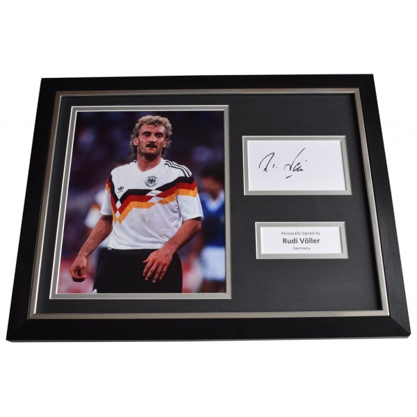 Rudi Voller SIGNED FRAMED Photo Autograph 16x12 display Germany Football    AFTAL  COA Memorabilia PERFECT GIFT