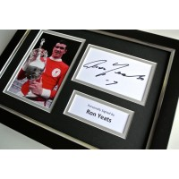 Ron Yeats SIGNED A4 FRAMED Photo Autograph Display Liverpool Football & COA PERFECT GIFT
