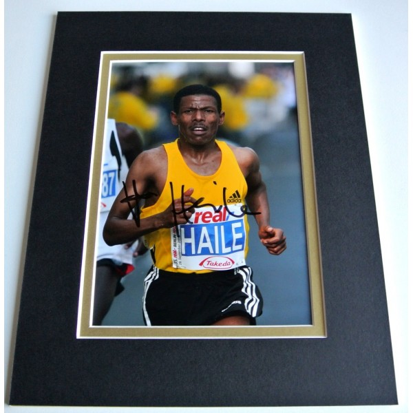 Haile Gebrselassie Signed Autograph 10x8 photo mount display Athletics & COA PERFECT GIFT