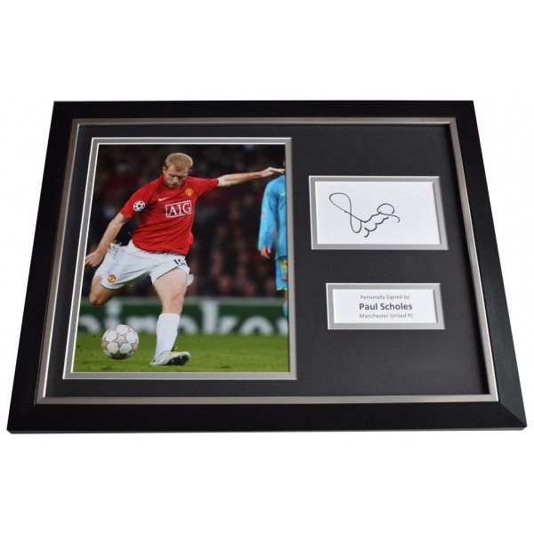 Paul Scholes Signed FRAMED Photo Autograph 16x12 display Manchester United  AFTAL  COA Memorabilia PERFECT GIFT