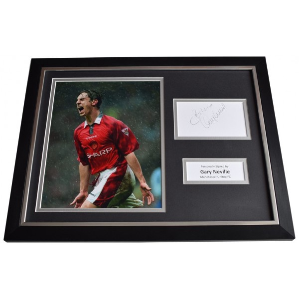 Gary Neville Signed FRAMED Photo Autograph 16x12 display Manchester United  AFTAL  COA Memorabilia PERFECT GIFT