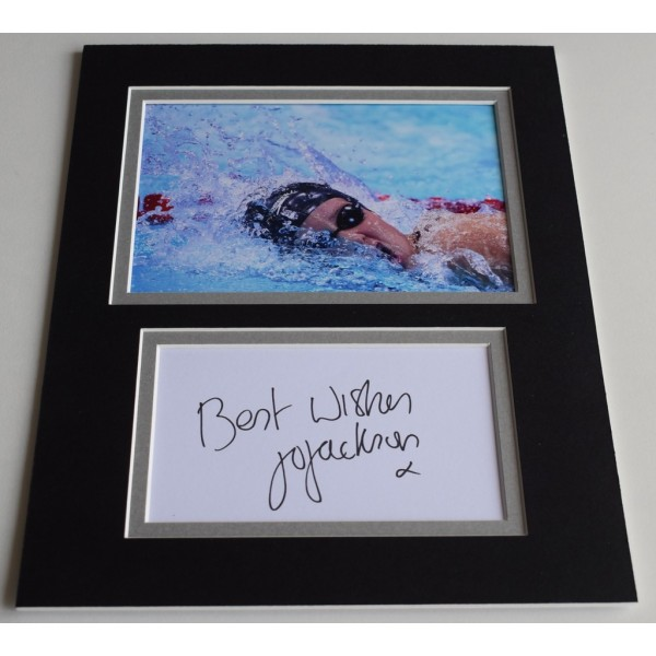 Joanne Jackson Signed Autograph 10x8 photo display Olympics Swimming  AFTAL  COA Memorabilia PERFECT GIFT