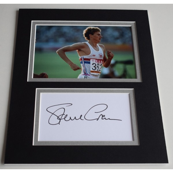 Steve Cram Signed Autograph 10x8 photo display Olympics Track Field Athlete  AFTAL  COA Memorabilia PERFECT GIFT