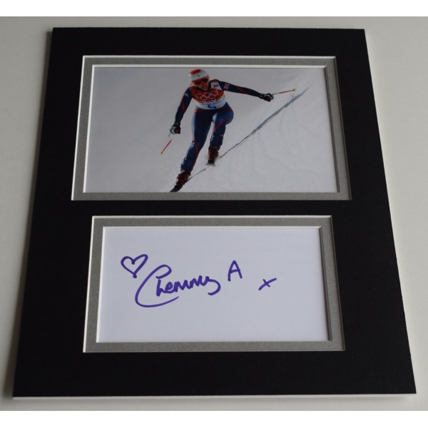 Chemmy Alcott Signed Autograph 10x8 photo display Olympics Alpine Skiing  AFTAL  COA Memorabilia PERFECT GIFT