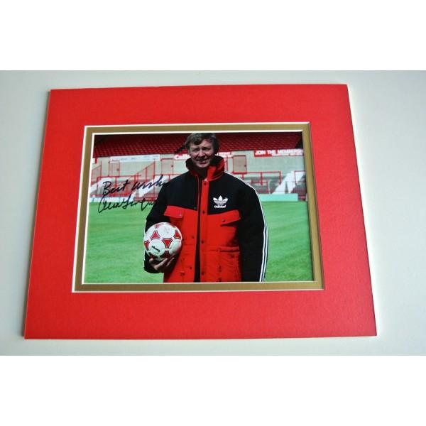 Alex Ferguson Signed Autograph 10x8 photo mount display Manchester United & COA PERFECT GIFT