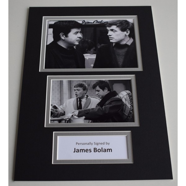James Bolam Signed Autograph A4 photo mount display The Likely Lads   AFTAL & COA Memorabilia PERFECT GIFT