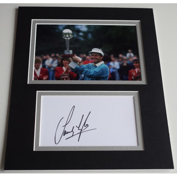 Sandy Lyle Signed Autograph 10x8 photo display Golf Sport   AFTAL  COA Memorabilia PERFECT GIFT