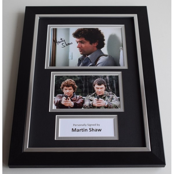 Martin Shaw Signed A4 FRAMED photo Autograph display Inspector George Gently    AFTAL & COA Memorabilia PERFECT GIFT
