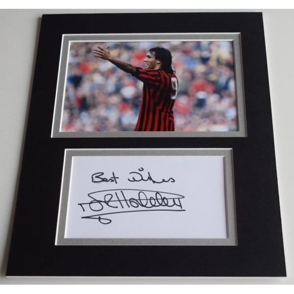 Mark Hateley Signed Autograph 10x8 photo display AC Milan Football  AFTAL  COA Memorabilia PERFECT GIFT