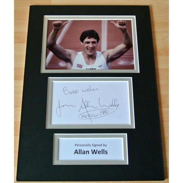 ALLAN WELLS hand SIGNED autograph A4 Photo Mount Display OLYMPIC MOSCOW GIFT COA PERFECT GIFT