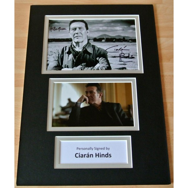 CIARAN HINDS hand SIGNED autograph A4 photo mount display Rome Harry Potter GIFT PERFECT GIFT