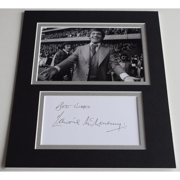Lawrie McMenemy Signed Autograph 10x8 photo display Southampton Football AFTAL  COA Memorabilia PERFECT GIFT