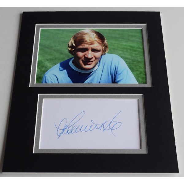 Francis Lee Signed Autograph 10x8 photo display Manchester City Football   AFTAL  COA Memorabilia PERFECT GIFT