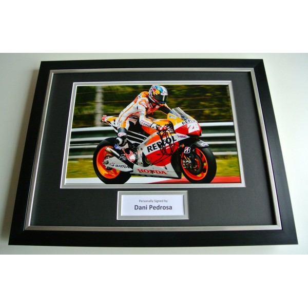 Dani Pedrosa SIGNED FRAMED Photo Autograph 16x12 display Superbikes Racing COA PERFECT GIFT