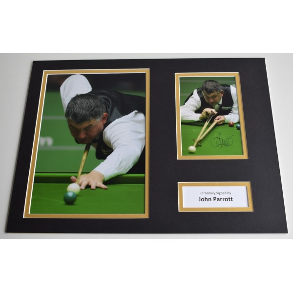 John Parrott SIGNED autograph 16x12 photo display Snooker  AFTAL & COA Memorabilia PERFECT GIFT
