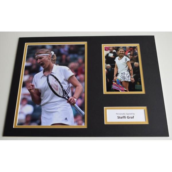 Steffi Graf SIGNED autograph 16x12 photo display Tennis   AFTAL & COA Memorabilia PERFECT GIFT