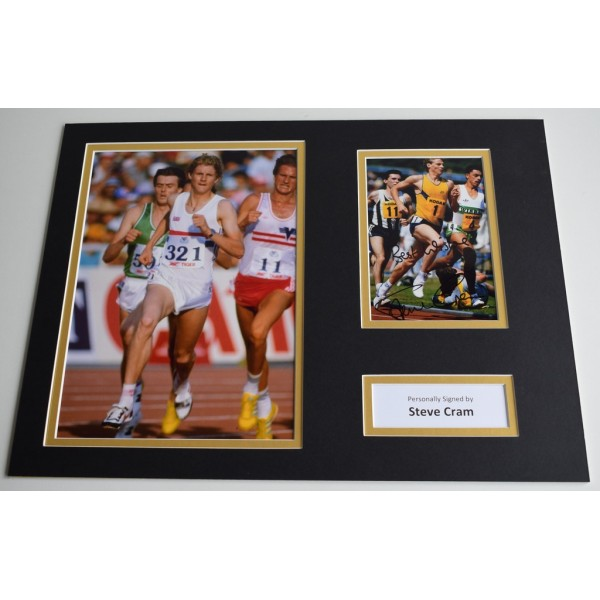 Steve Cram SIGNED autograph 16x12 photo display Olympics LA 1984 AFTAL & COA Memorabilia PERFECT GIFT